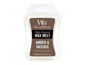 Vonný vosk WoodWick Ambra a kadidlo 22,7 g