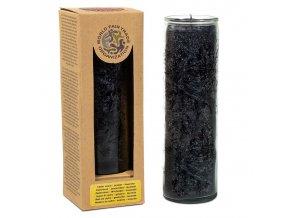 Yogi & Yogini Vonná svíčka ve skle Černý les černá, 21 x 6,5 cm
