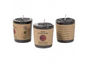 Votivní svíčka Černý les černá, 4,5 x 4 cm