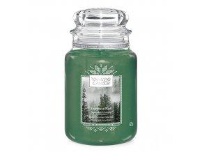 Vonná svíčka ve skleněné dóze Lesní mlha Evergreen Mist, 623 g