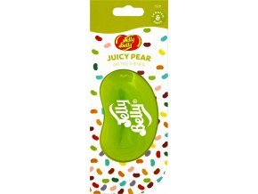 Vůně do auta Jelly Belly 3D Air Freshener Juicy Pear Hruška, 1 ks