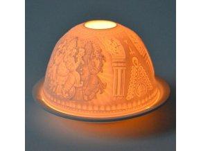Porcelánový svícen Feng Shui Ganesha, 12 x 8 cm