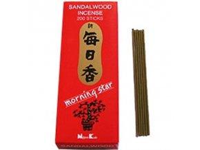 Vonné tyčinky Nippon Kodo Morning Star Sandalwood Sandalwood, 200 ks