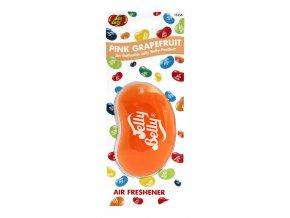 Vůně do auta Jelly Belly 3D Air Freshener Pink Grapefruit Růžový grep, 1 ks