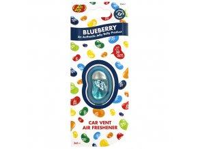 Vůně do auta Jelly Belly Vent Clip Blueberry Borůvky, 1 ks