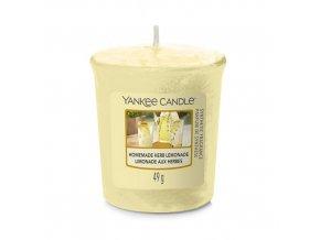 Votivní svíčka Yankee Candle Domácí bylinková limonáda Homemade Herb Lemonade, 49 g