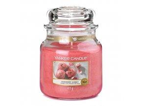 Vonná svíčka ve skleněné dóze Růžový sorbet ROSEBERRY SORBET, 411 g