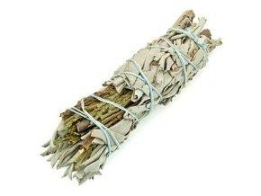 Šalvěj bílá & Cedr svazek pro vykuřování, 10 cm
