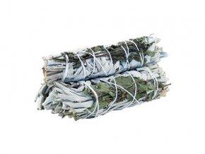 Šalvěj bílá & Máta peprná svazek pro vykuřování, 10 cm, 1 ks