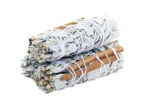 Šalvěj bílá & Skořice svazek pro vykuřování, 10 cm, 1 ks