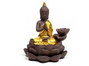 Stojan na vonné kužely Tekoucí dým Buddha, 12 x 10 x 9 cm