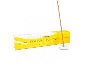 Vonné tyčinky Nippon Kodo Scentsual Sparkling Gold Yuzu, 30 ks