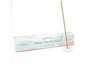 Vonné tyčinky Nippon Kodo Scentsual Sweet White Sage, 30 ks