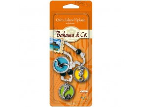 BAHAMA & CO vůně do auta 3D Necklace Island Medallion, 1 ks