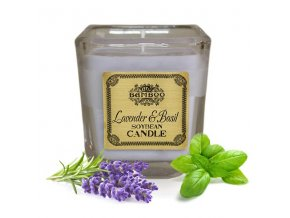 Sojová vonná svíčka Levandule & Bazalka, 200 g