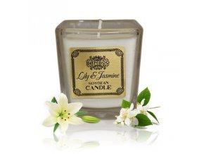 Sojová vonná svíčka Lilie & Jasmín, 200 g