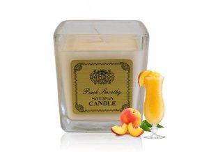 Sojová vonná svíčka Broskvové Smoothie, 200 g