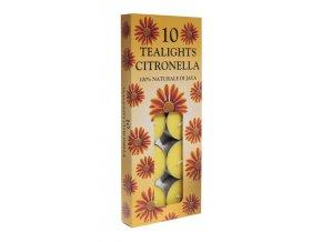 Čajové svíčky repelentní Citronela proti komárům, 10 ks