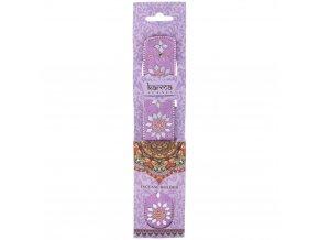 Karma Stojánek na vonné tyčinky dřevěný s glitrovou ozdobou, růžová