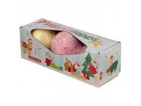 Festive Friends Christmas Šumivé koule do koupele, 3 ks x 200 g