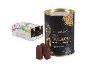 Goloka Vonné kužely tekoucí dým Buddha, 24 ks