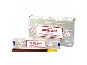 Vonné tyčinky Shrinivas Satya Bílá šalvěj, 15 g