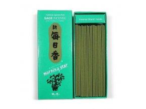 Vonné tyčinky Nippon Kodo Morning Star Sage Bílá Šalvěj, BOX 200 ks