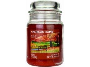 Yankee Candle AMERICAN HOME Vonná svíčka A Walk in the park, 538 g.