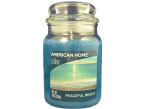 Yankee Candle AMERICAN HOME Vonná svíčka Peaceful Beach, 538 g.