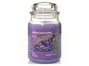 Yankee Candle AMERICAN HOME Vonná svíčka Sweet Lilac, 538 g.
