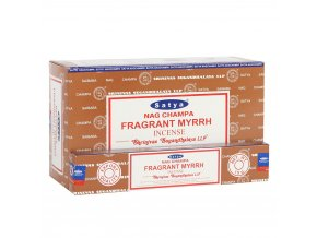 Shrinivas Satya Vonné tyčinky Fragrant Myrrh, 15 g