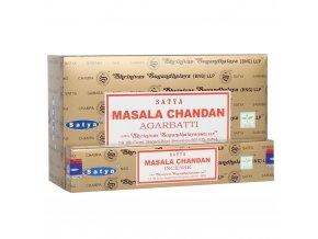 Shrinivas Satya Vonné tyčinky Masala Chandan, 15 g