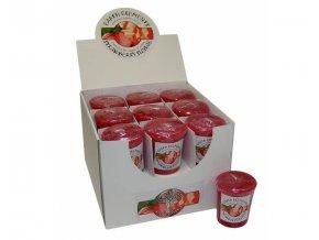 Earth Elements Strawberry Sundae Jahodový pohár Votivní svíčka, 60 g