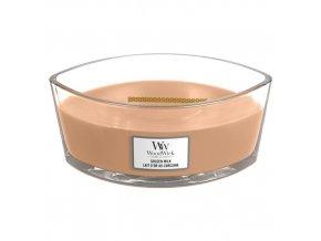 WoodWick Golden Milk vonná svíčka loď s dřevěným knotem, 453,6 g