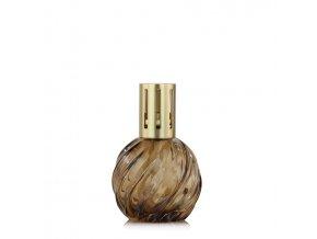 Ashleigh & Burwood SPIRAL AMBER Velká katalytická lampa, skleněná hnědá