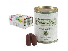 Goloka Vonné kužely tekoucí dým White Sage Bílá šalvěj, 24 ks