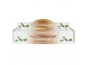 Elements Vonné tyčinky Sandalwood Santalové dřevo, 20 ks