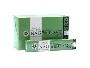 Vijayshree Vonné tyčinky Golden Nag White sage Bílá šalvěj, 15 g