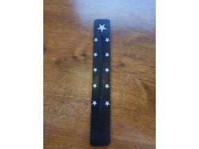 Mani Bhadra Hvězdy Dřevěný stojánek na vonné tyčinky černý, 26 x 3,5 cm