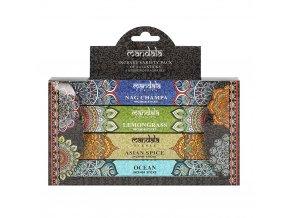 Mandala Dárkové balení Vonné tyčinky MIX vůní, 4 x 14 ks