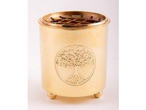 Mani Bhadra Yggdrasil Mosazná vykuřovací miska, 6 x 5,5 cm