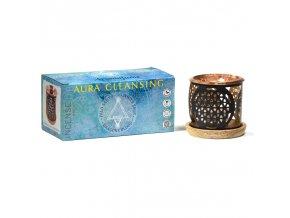 Aromafume Aura Cleansing difuzér pro vonné cihličky + sada vonných cihliček 12 ks