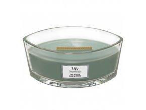 WoodWick Sage & Myrrh vonná svíčka loď s dřevěným knotem, 453,6 g