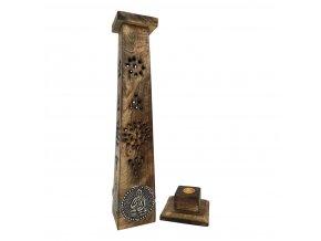 Mani Bhadra Věž Buddha Stojánek na vonné tyčinky dřevěný, 30 cm