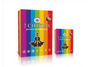 Green Tree 7 Chakras Premium Vonné kužely Tekoucí dým, 12 ks