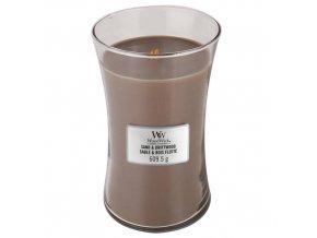 WoodWick Sand & Driftwood vonná svíčka s dřevěným knotem, 609,5 g