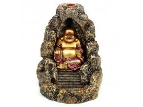 Mani Bhadra Stojan na vonné kužely Tekoucí dým Buddha, 18,5 x 13,5 x 12 cm