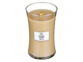 WoodWick At the Beach vonná svíčka s dřevěným knotem, 609,5 g