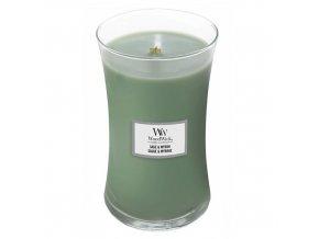 WoodWick Sage & Myrrh Vonná svíčka s dřevěným knotem, 609,5 g