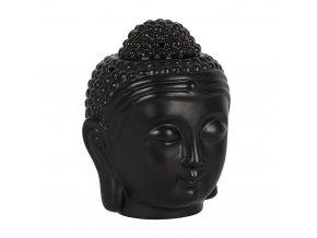 Mani Bhadra Aroma lampa Hlava Buddhy černá, 14 x 9 x 9 cm